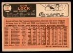 1966 Topps #165  Don Lock  Back Thumbnail