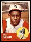 1963 Topps #157  Diego Segui  Front Thumbnail