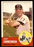 1963 Topps #186  Jerry Zimmerman  Front Thumbnail