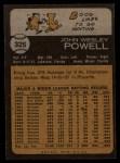 1973 Topps #325  Boog Powell  Back Thumbnail