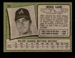 1971 Topps #194  Mike Lum  Back Thumbnail