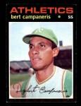 1971 Topps #440  Bert Campaneris  Front Thumbnail