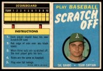 1970 Topps Scratch Offs #4  Sal Bando  Front Thumbnail