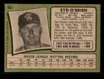 1971 Topps #561  Syd O'Brien  Back Thumbnail