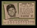 1971 Topps #444  Jim Price  Back Thumbnail