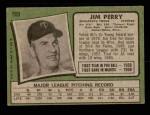 1971 Topps #500  Jim Perry  Back Thumbnail