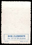 1969 Topps Deckle Edge #27  Roberto Clemente  Back Thumbnail