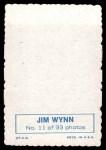 1969 Topps Deckle Edge #11 WYN Jim Wynn  Back Thumbnail