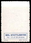 1969 Topps Deckle Edge #13  Mel Stottlemyre    Back Thumbnail