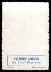 1969 Topps Deckle Edge #15  Tommy Davis    Back Thumbnail