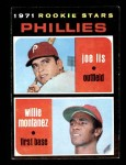 1971 Topps #138   -  Willie Montanez / Joe Lis Phillies Rookies Front Thumbnail