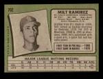 1971 Topps #702  Milt Ramirez  Back Thumbnail