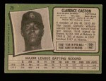 1971 Topps #25  Cito Gaston  Back Thumbnail