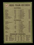 1971 Topps #357   Reds Team Back Thumbnail