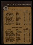 1973 Topps #68   -  Clay Carroll / Sparky Lyle Leading Firemen Back Thumbnail
