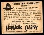 1950 Topps Hopalong Cassidy #223   treacherous shot Back Thumbnail