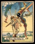1941 Gum Inc. War Gum #37   Japanese Kill U.S. Hero Bailing Out Front Thumbnail