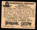 1950 Topps Hopalong Cassidy #19   Human Sacrifice Back Thumbnail
