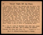1941 Gum Inc. War Gum #27   Heron Fights Off Japanese Planes Back Thumbnail