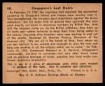 1941 Gum Inc. War Gum #48   Singapore's Last Hours Back Thumbnail