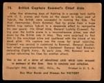1941 Gum Inc. War Gum #75   British Capture Rommel's Chief Aide Back Thumbnail