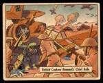 1941 Gum Inc. War Gum #75   British Capture Rommel's Chief Aide Front Thumbnail