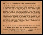 1941 Gum Inc. War Gum #83   U.S. Liberators Sink Italian Cruiser Back Thumbnail