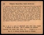 1941 Gum Inc. War Gum #38   Filipino Guerrillas Raid Airdrome Back Thumbnail