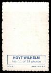 1969 Topps Deckle Edge #11 WIL Hoyt Wilhelm  Back Thumbnail