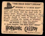 1950 Topps Hopalong Cassidy #169   dead body Back Thumbnail