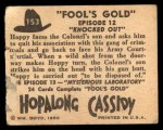 1950 Topps Hopalong Cassidy #153   Knocked out Back Thumbnail