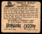 1950 Topps Hopalong Cassidy #146   Rough treatment Back Thumbnail