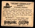 1950 Topps Hopalong Cassidy #188   Strange friends Back Thumbnail