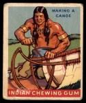 1947 Goudey Indian Gum #36   Making Canoe Front Thumbnail
