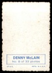 1969 Topps Deckle Edge #8  Denny McLain    Back Thumbnail