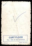 1969 Topps Deckle Edge #28  Curt Flood  Back Thumbnail
