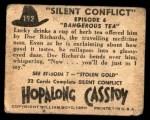 1950 Topps Hopalong Cassidy #192   Dangerous tea Back Thumbnail