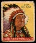 1947 Goudey Indian Gum #42   Chief Red Cloud Front Thumbnail