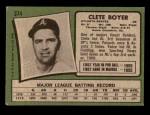 1971 Topps #374  Clete Boyer  Back Thumbnail