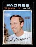 1971 Topps #383  Rod Gaspar  Front Thumbnail