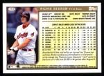 1999 Topps #252  Richie Sexson  Back Thumbnail