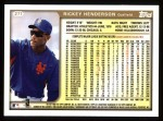 1999 Topps #277  Rickey Henderson  Back Thumbnail