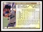 1999 Topps #281  Randy Winn  Back Thumbnail