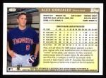 1999 Topps #305  Alex Gonzalez  Back Thumbnail