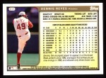 1999 Topps #311  Dennis Reyes  Back Thumbnail