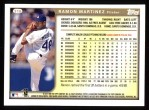 1999 Topps #316  Ramon Martinez  Back Thumbnail