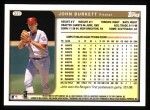 1999 Topps #337  John Burkett  Back Thumbnail