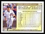 1999 Topps #341  Jeremi Gonzalez  Back Thumbnail