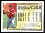 1999 Topps #346  Fernando Tatis  Back Thumbnail