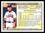 1999 Topps #355  Chipper Jones  Back Thumbnail